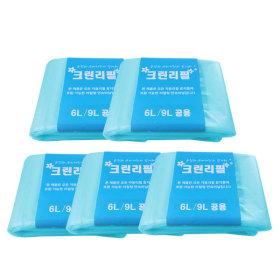 다용도 매직 리필봉투 6L 9L 공용 5개 쓰레기통 비닐