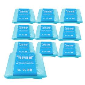 다용도 매직 리필봉투 6L 9L 공용 10개입 휴지통 비닐