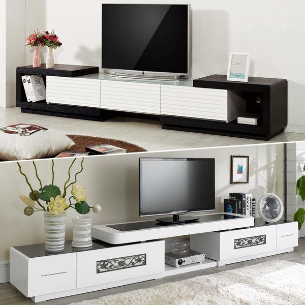확장형 거실장 TV다이 티비다이 협탁 장식장 수납장 상품이미지