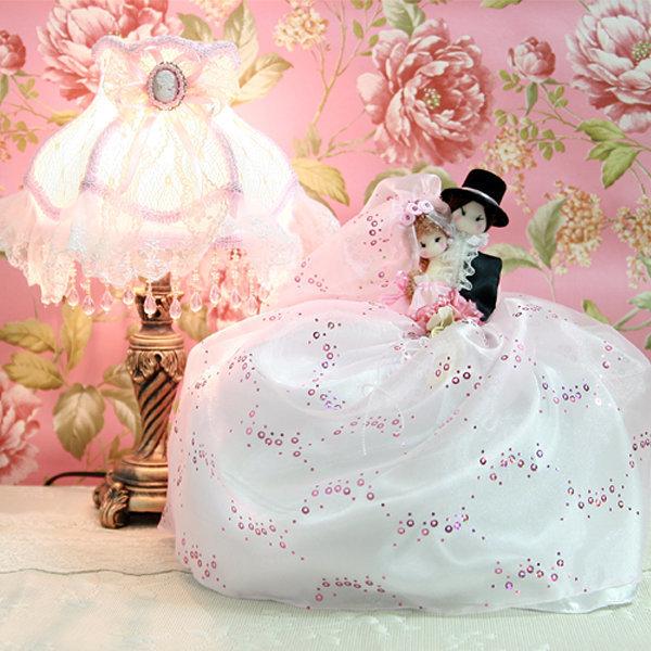 엔틱 스탠드+티슈커버 세트/웨딩 티슈케이스 인테리어소품 조명 무드등 취침등/집들이결혼신혼부부선물용품 상품이미지