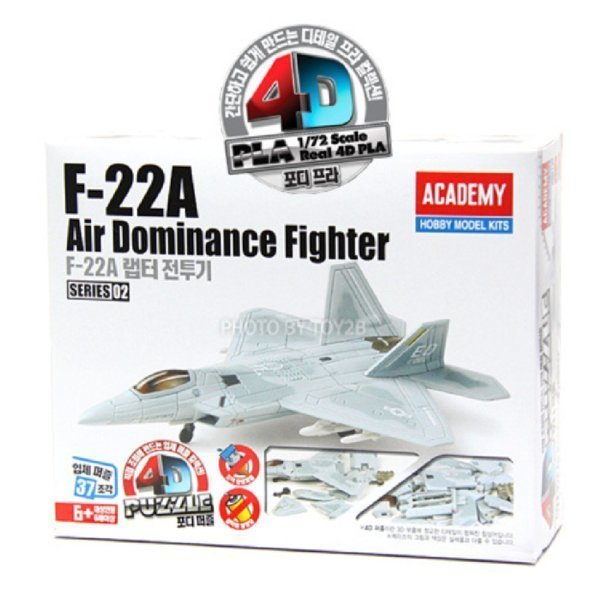 4D퍼즐-02 F-22A 랩터전투기 프라모델 비행기 조립모 상품이미지
