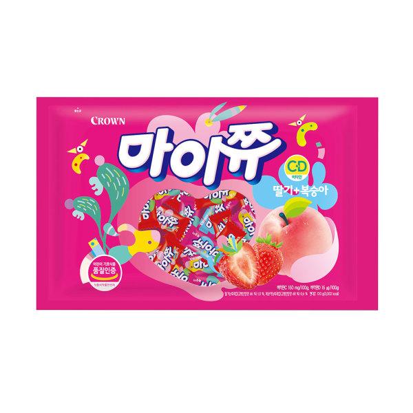 마이쮸 딸기+복숭아 720g /간식 상품이미지