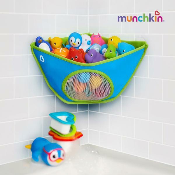 먼치킨  목욕놀이 장난감 정리함 코너용 상품이미지