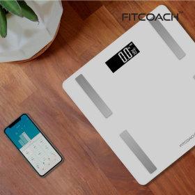 핏코치 Scale BFSC15 체지방 블루투스 체중계 화이트