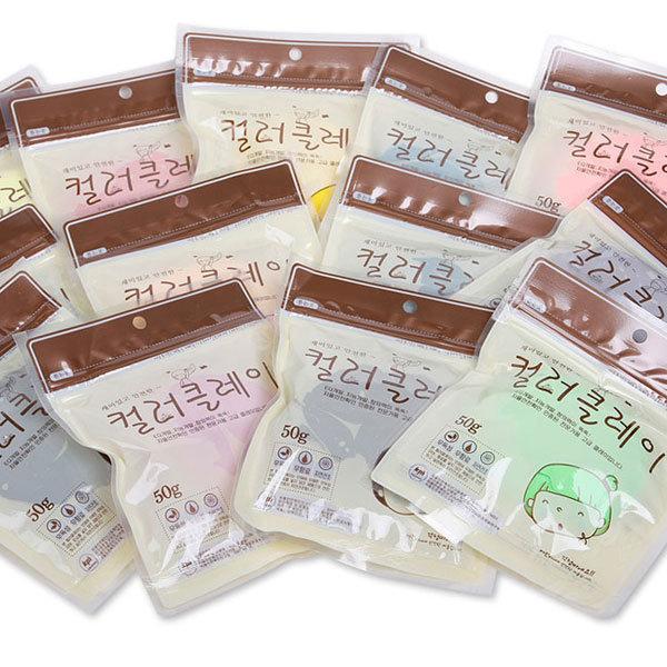 칼라클레이 50g / 점토놀이 만들기재료 칼라점토 점토 상품이미지