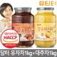 꿀유자차 A 1kg+꿀대추차 1kg : 새콤달콤~