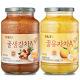 꿀유자차 A 1kg+꿀생강차 1kg : 새콤달콤~/안전포장