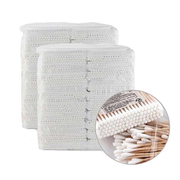 고급 천연솜 면봉 4000개 위생 나무 회오리 종이면봉 상품이미지