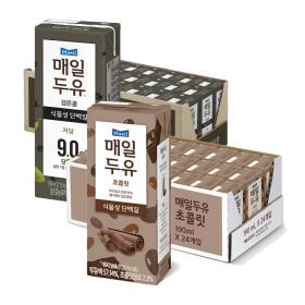 매일두유 초콜릿 24팩+ 검은콩 190mL 24팩