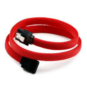 SATA3케이블 6Gb/s Lock 그물망 레드 0.5M ML-S3MRD