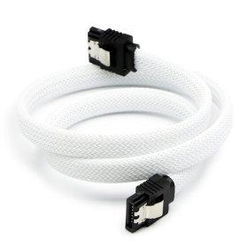 SATA3케이블 6Gb/s Lock 그물망 화이트 0.5M ML-S3MWH