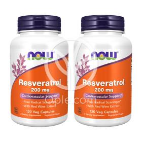 2개 Now Foods 레스베라트롤 폴리페놀 200 mg 120 베지 캡슐 빠른직구