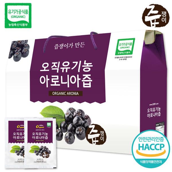 즙쟁이 유기농 아로니아즙 1박스 30포 상품이미지