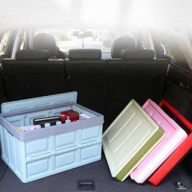1+1 56L 접이식 폴딩 캠핑 박스 트렁크 장난감 정리함