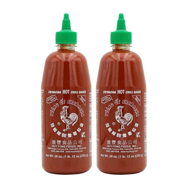 2개 Huy Fong Foods 스리라차 핫 칠리 0칼로리 닭표 소스 793 g 빠른직구 상품이미지