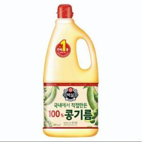 백설 콩기름 1800ml