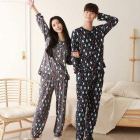 [서울양말] 소프트 커플 파자마 피치기모 잠옷바지 홈웨어 마약잠옷