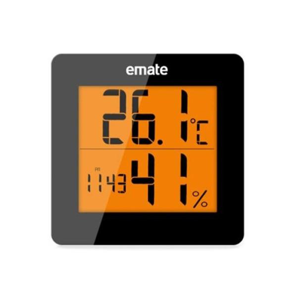 EMATE 온습도계 LED-블랙 (알람 시계 온도계 습도계) 상품이미지