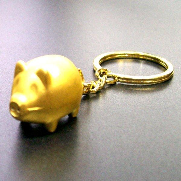 복을 부르는 황금돼지 열쇠고리-재물을 금돼지 키링 상품이미지