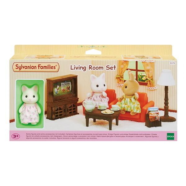실바니안패밀리  5379-꽃무늬 고양이 소녀의 리빙 룸 세트 상품이미지