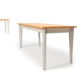 파스텔 원목테이블 4인6인용 180x60 화이트/의자별도