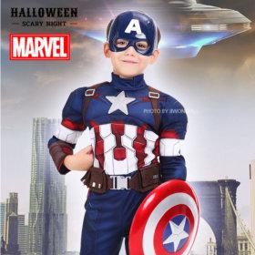 어벤져스 캡틴아메리카 코스튬16-XL 할로윈 파티 의상