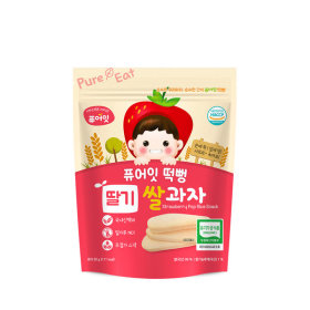 PURE-EAT Organic Strawberry Pop Rice Snack