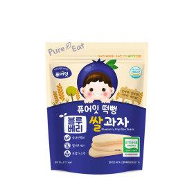 PURE-EAT Organic Blueberry Pop Rice Snack