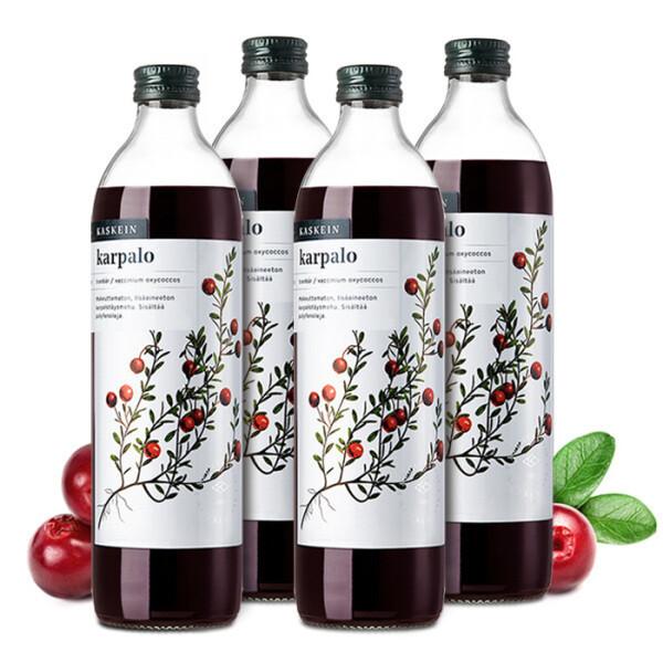 (핀란디아) 카스케인 크랜베리 원액 주스 500ml 4병 상품이미지