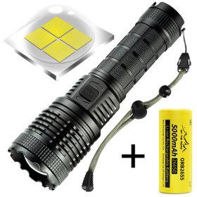 XHP90 해루질 LED후레쉬 손전등 랜턴 써치라이트 J74