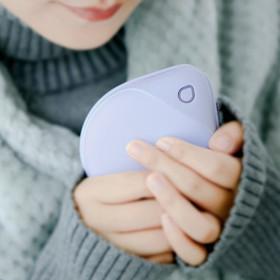 물방울 충전식 손난로 보조배터리 핫팩 6000mAh 퍼플
