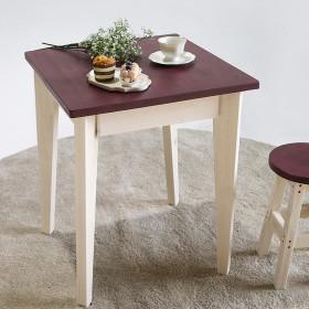 파스텔 원목테이블 2인 미니 식탁책상 60x60 화이트