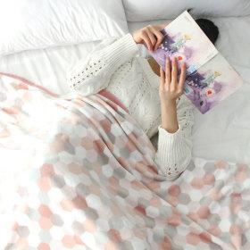 High-Density Microfiber Blanket Winter Camping Blanket Mink Lap Blanket
