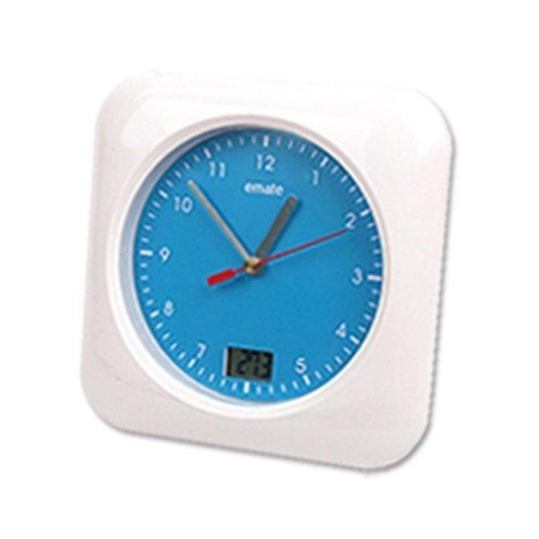EMATE 욕실 방수 시계-화이트 (무소음 온도계 습도계) 상품이미지