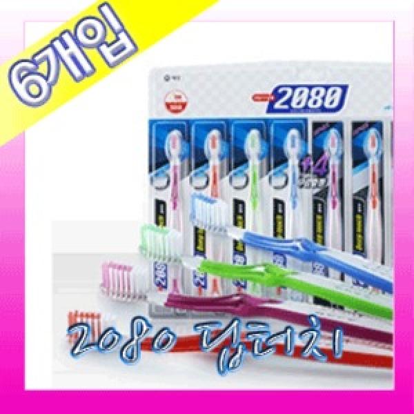 애경 2080 딥터치 칫솔 3+3 총6개/부드러운모 상품이미지