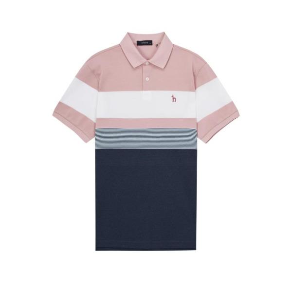 20SS 핑크 컬러블록 면혼방 반팔폴로티셔츠 HZTS0B434P2 상품이미지