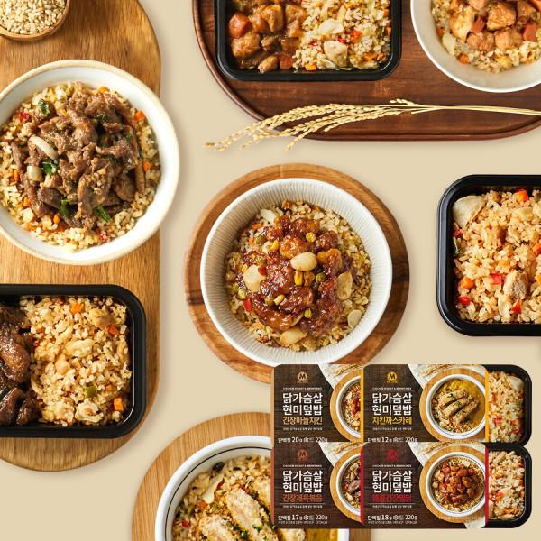닭가슴살 현미덮밥 4종 혼합 4팩 상품이미지
