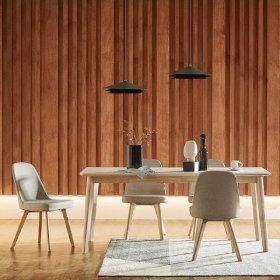 도노 세라믹 6인 식탁세트 (의자4 포함)