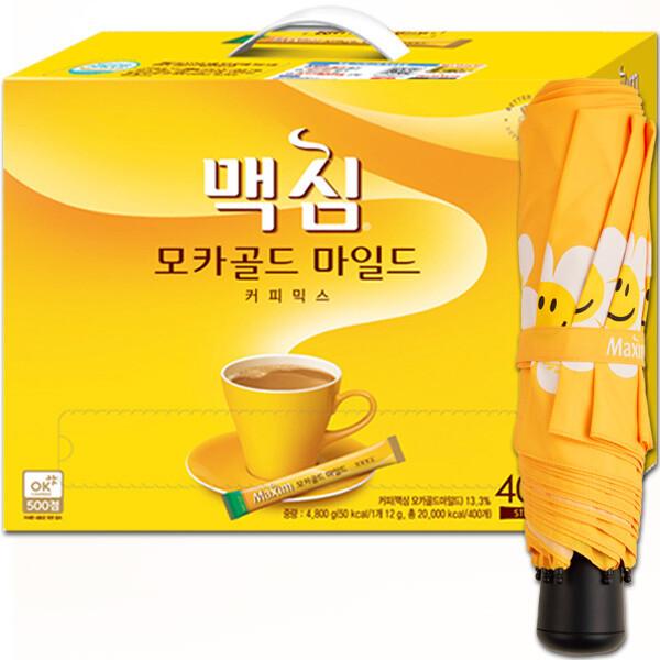 모카골드 커피믹스 400T+캠핑의자: 커피는 맥심~ 상품이미지