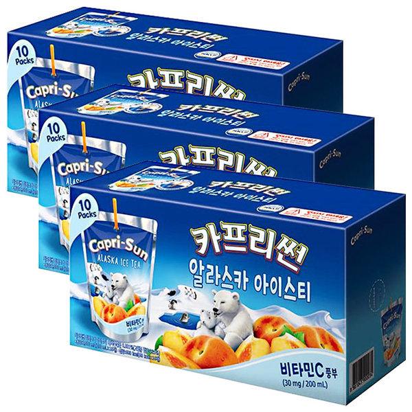 카프리썬 아이스티 200ml x 30팩 / 과일주스 음료수 상품이미지