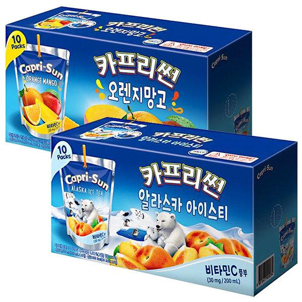 카프리썬 망고 10팩 + 아이스티 10팩 / 과일주스 음료 상품이미지