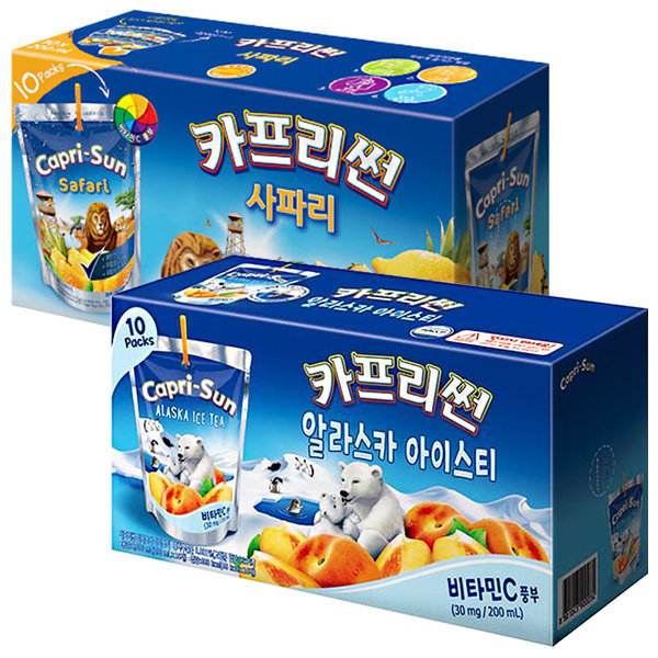 카프리썬 사파리 10팩 + 아이스티 10팩 / 과일주스 상품이미지