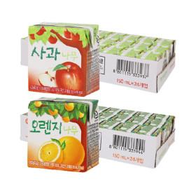 사과나무/오렌지나무 150ml 24입+24입 (2박스)