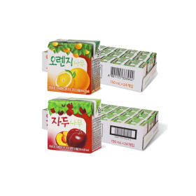 오렌지나무/자두나무 150ml 24입+24입 (2박스)