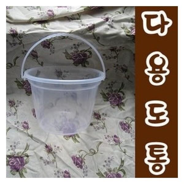 다용도 손잡이 통/작은통/플라스틱/쌀통/음식물수거함 상품이미지