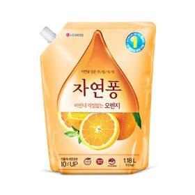 자연퐁 주방세제(오렌지/리필) 1180ml