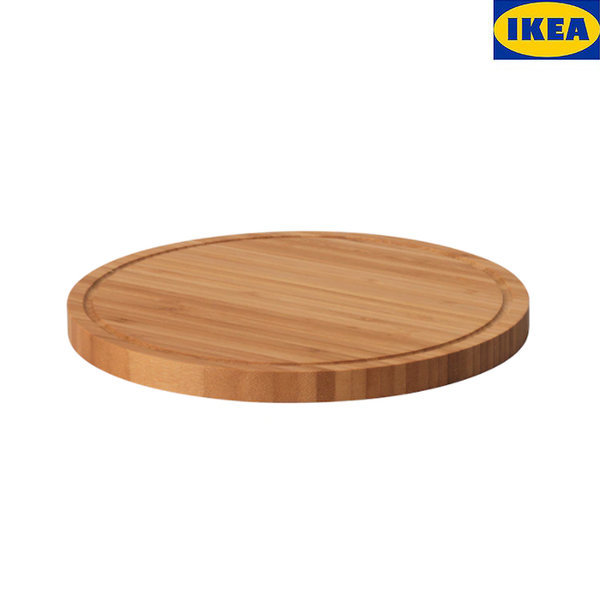 이케아 올레뷔 도마 원형 대나무 원목 냄비받침 주방 상품이미지
