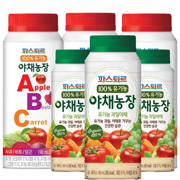 파스퇴르 야채농장190ml (ABC주스15개+과일야채15개) 상품이미지