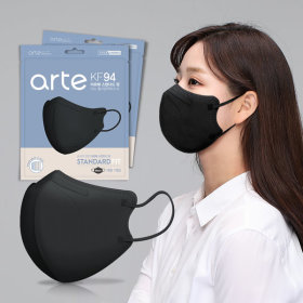 Bird Beak Type Mask KF94 Non-medicinal product Individual Packaging Black 100 sheets