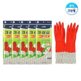 따뜻한 기모 고무장갑X5개